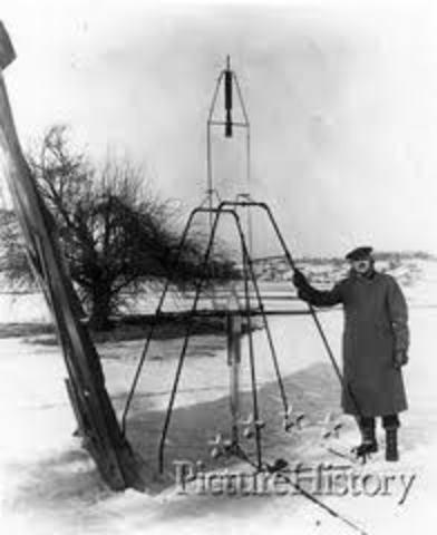 First Liquid-fueled rocket