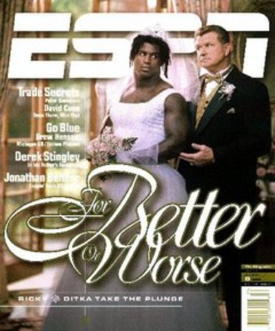 Mike Ditka was on the cover of Sports Illustrated.