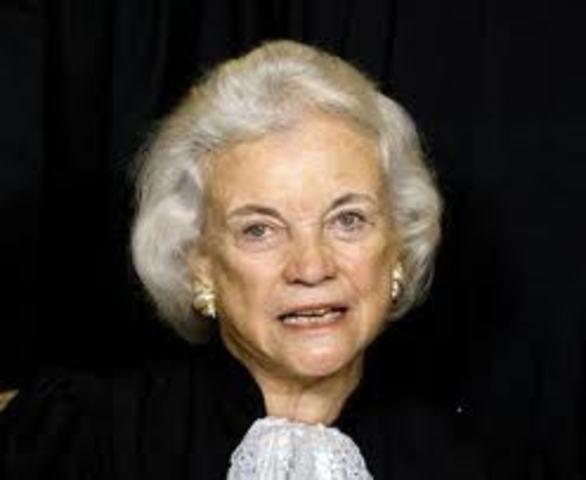 Sandra Day O'Connor Becomes Supreme Court Justice