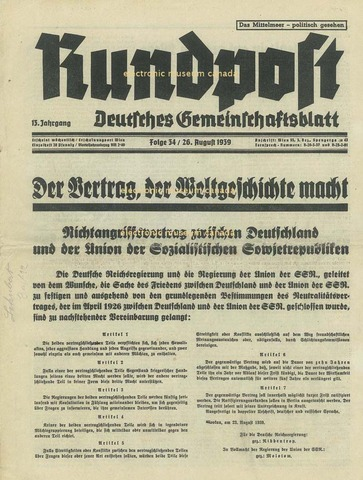 Germany signs nonaggression act