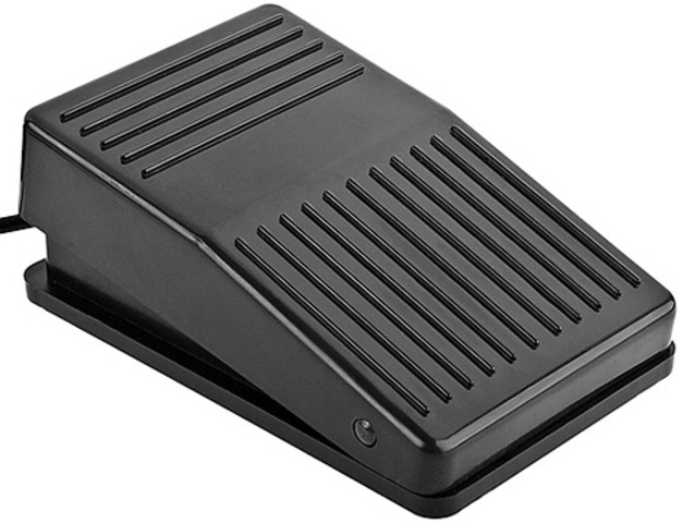 First Single Foot Pedal to Operate Coupled Four-Wheel Brakes