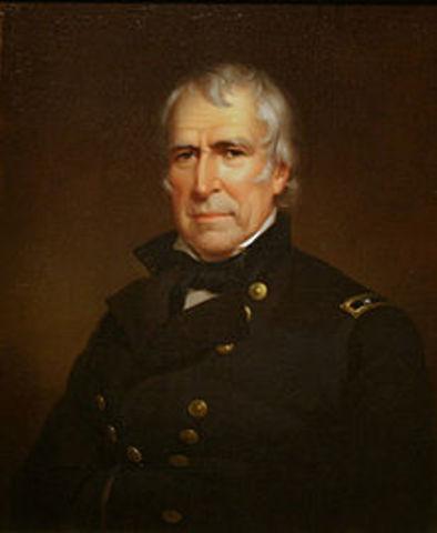 Twelfth President : Zachary Taylor 1849-1850