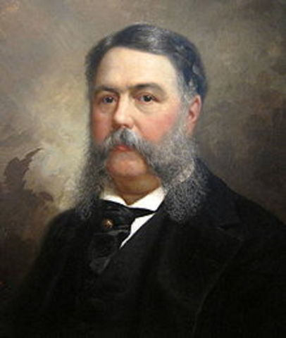 Twenty - First President : Chester Alan Arthur 1881-1885