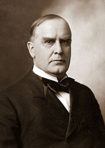 Twenty - Fifth President : William McKinley 1897-1901