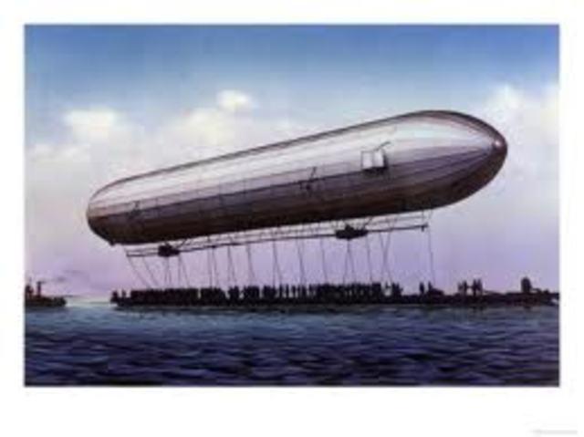 the First Zeppline - Ferdinand von Zeppelin