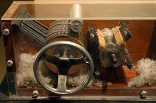 The First Cotton Gin - Eli Whitney