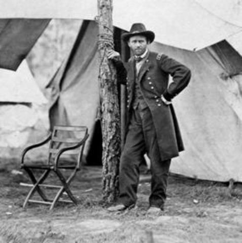 ulysses grant came to the military