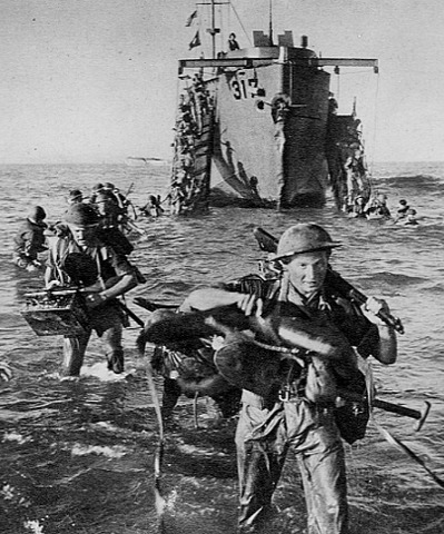 U.S. and British troops land on Sicily.