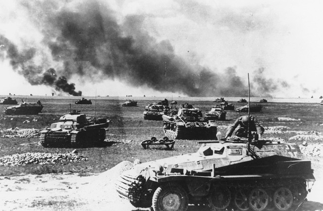 The Germans launch a massive tank offensive on the Soviet Union.