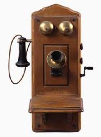 Telephones first designed with number.