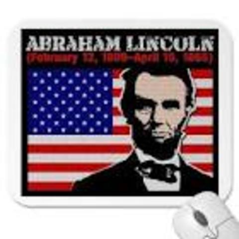 abraham lincholn elected president of the united states