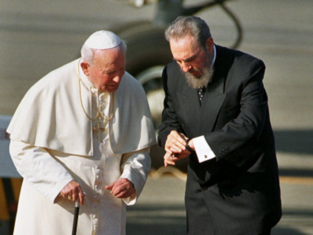 Meets with Cuban President, Fidel Castro