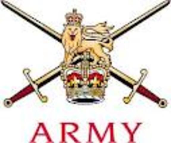Co-opted by British Army