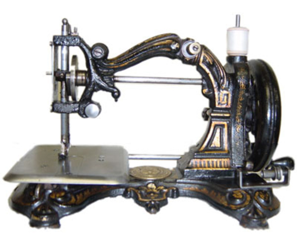 The sewing machine was built