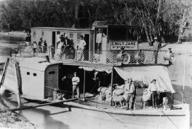 The first paddle steamer