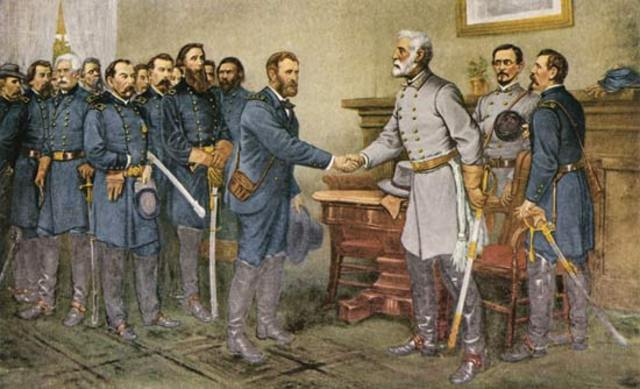 Robert E. Lee surrenders