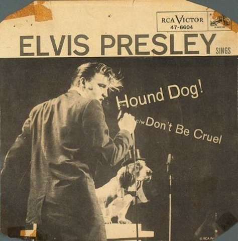 "Elvis Presley recorded ""Hound Dog"" and ""Don't Be Cruel."""