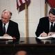 Reagan and gorbachev signing