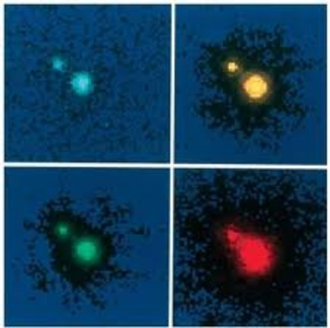 Astronomers discover an invisible gravity source that splits a quasar's light.