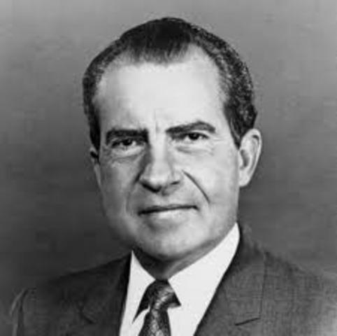 President Nixon resigns.