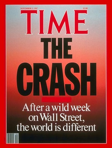 Stock markets around the world crashed Monday October 19,1987Began in Hong Kong and speeded west to Europe The market was overvalued setting the stage for a collapse