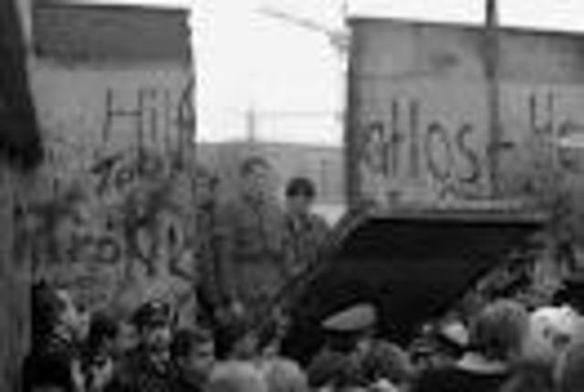 Berlin Wall is taken down.