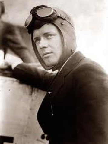 Charles Lindbergh crosses Atlantic in first solo flight.