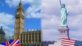 Inglés británico VS inglés Americano timeline