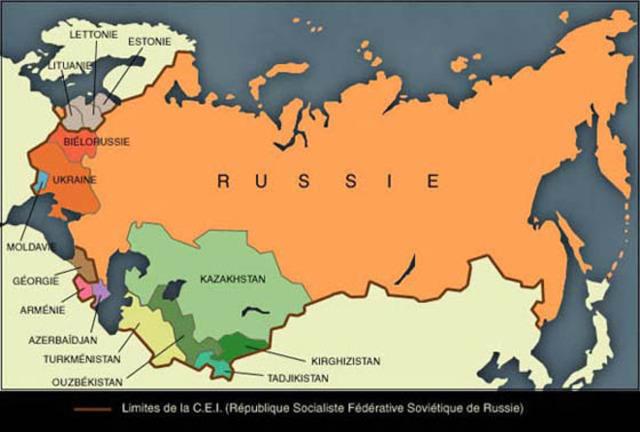 Eclatement de l'URSS
