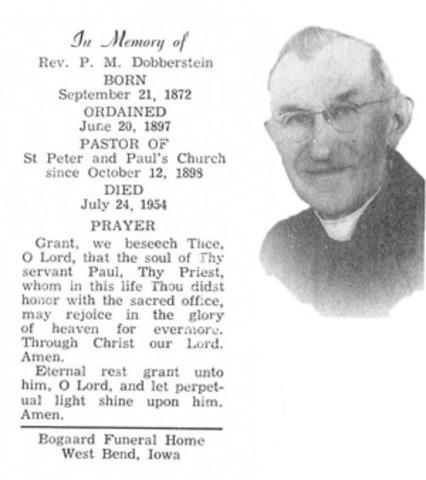 Father Dobberstein dies