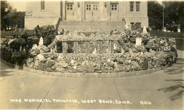 Memorial Fountain in front of Sts. Peter and Paul Church Constructed