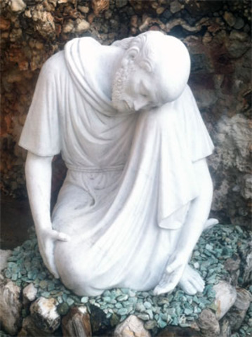 Statue of St. Peter added to Grotto of Gethsemane
