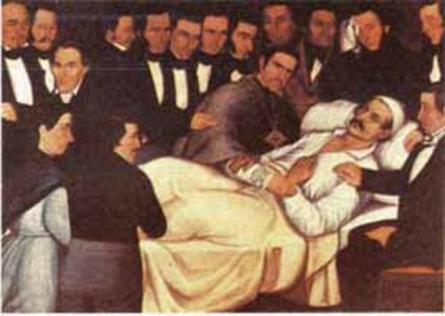 Muerte del general Francisco de Paula Santander,