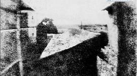 The first photographic image. timeline