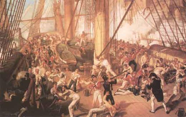 Napoleon defeats 3rd/4th Coalition at the Batte of Trafalgar