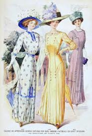 Fashion trends of the 1900's