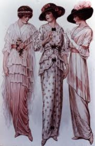 Fashion trends of the 1910's