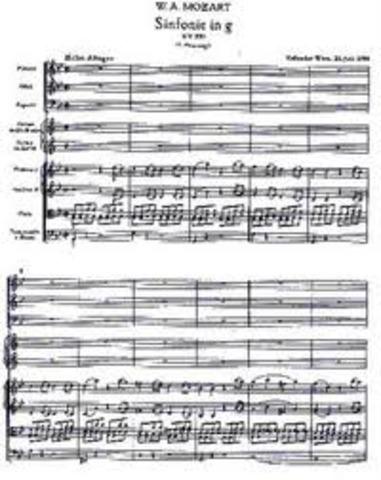 Sinfonía No. 40 en Sol menor