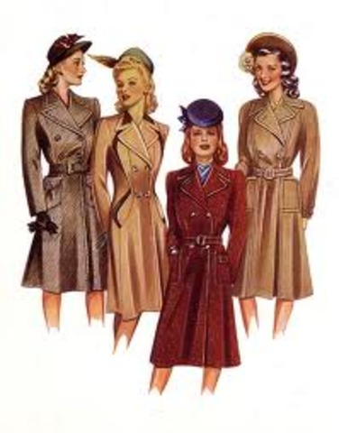 Fashion trends of the 1940's