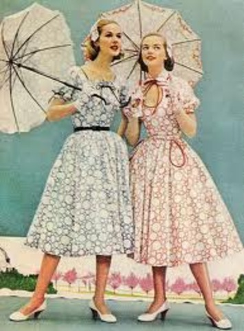 Fashion trends of the 1950's