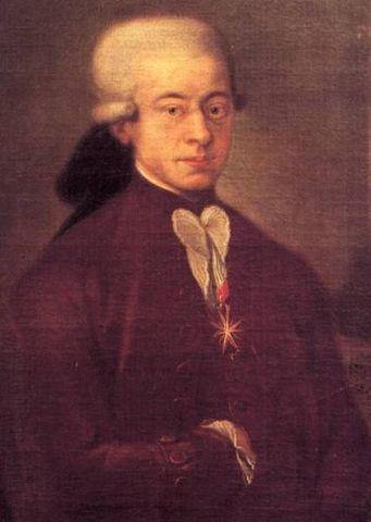 Wolfgang Amadeus Mozart en el año  1769 realizó una extensa gira por Italia y conoció al Padre Martini