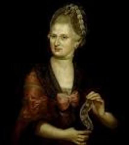 Muerte de la madre de Mozart.