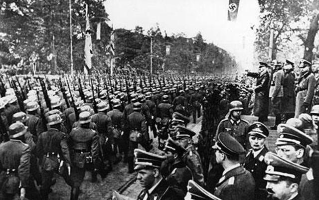 German troops march into Austria