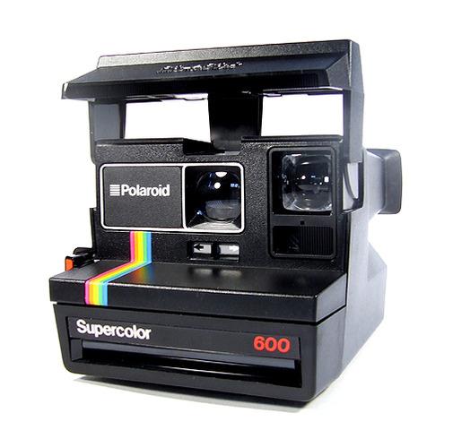 Paloroid camera apperaed.