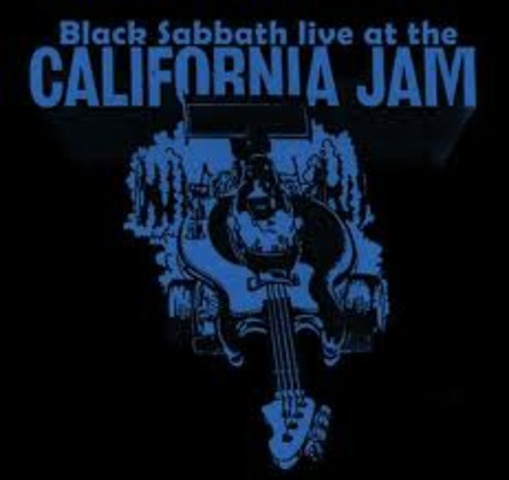 Black Sabbath performs at the first California Jam in June 1974