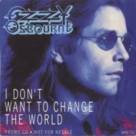 "Ozzy wins Grammy award for best metal performance ""I Don't Want To Change The World"""