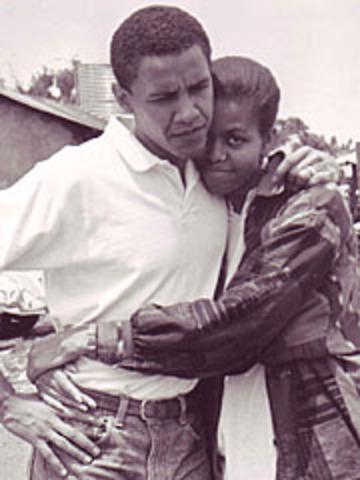 Michelle marries Barack Obama