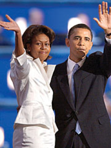 Makes a speech during campaign for Husband, Honorable President Barack Obama