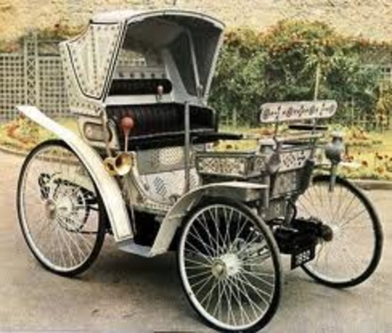 Early cars from the 1800's In 1891, William Morrison built the first successful electric-powered automobile in the United States. Electric-powered automobiles were an improvement over steam-powered automobiles because they were quiet, cost less, and they