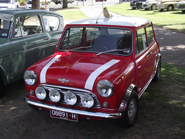 The very popular mini Cooper imported from Australia